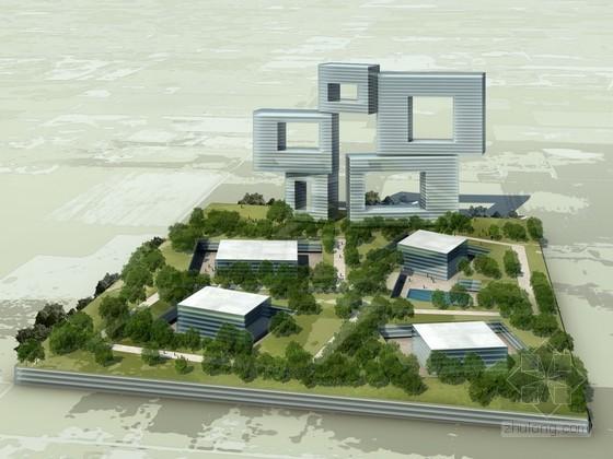 某科技园景观模型