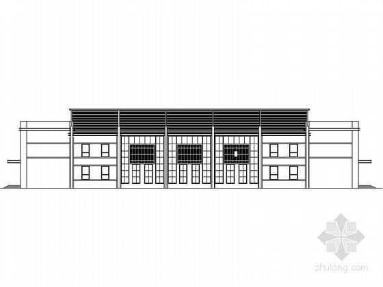 某小学风雨操场建筑施工图