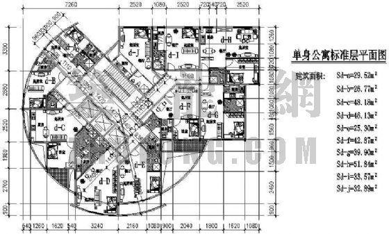 公寓户型平面图