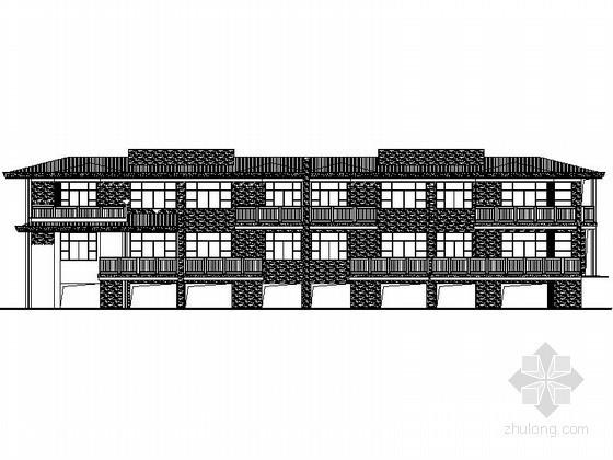 某二层四联排海景别墅建筑施工图