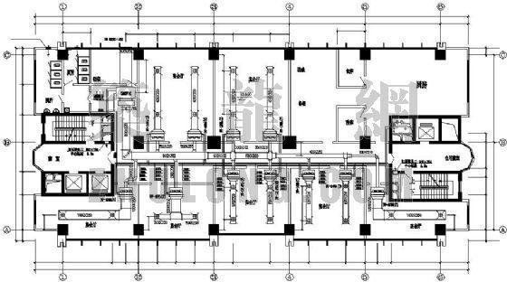 南京市某综合楼通风空调设计图(含成套设计计算说明书)