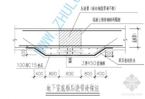 南京某医院项目混凝土后浇带施工方案