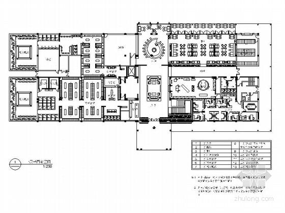 [广东]印度风情高尔夫会所室内装修CAD施工图(含效果图、实景图)