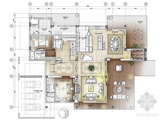 [珠海]省级湿地公园豪华两层别墅设计方案