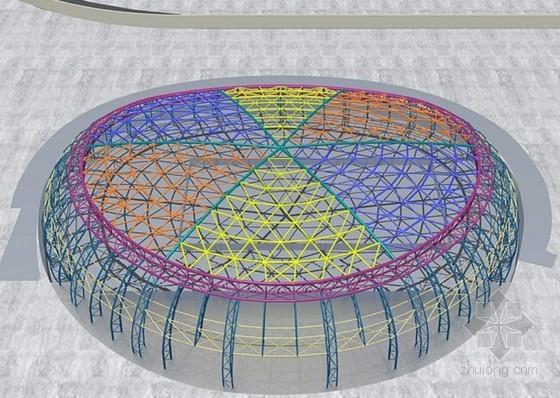 [四川]框架结构游泳馆钢桁架屋面施工组织设计(三维图解)
