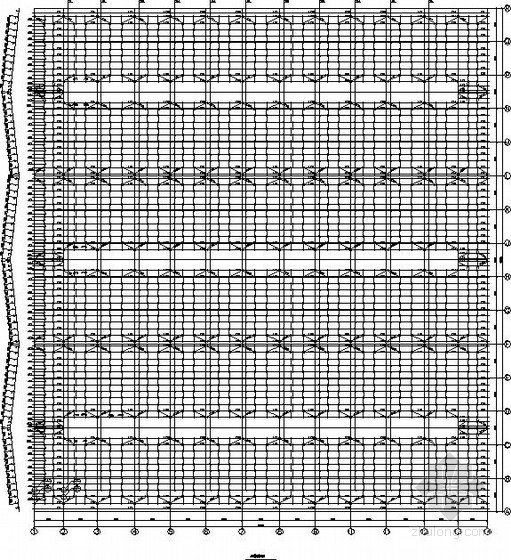 120米三联跨门式刚架厂房结构施工图