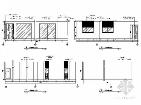 [南京]全国重点综合性历史艺术博物馆办公综合楼装修施工图陈列部立面图