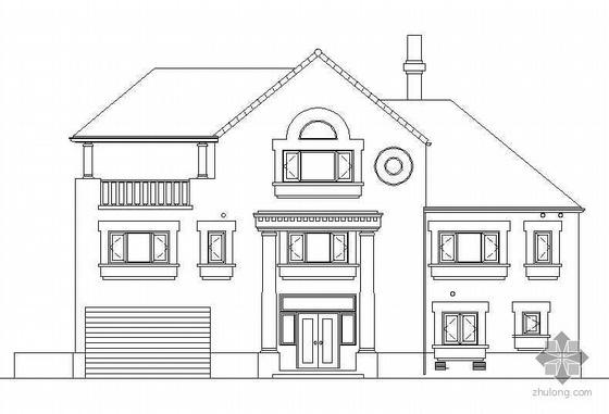 [北京]某三层小型别墅建筑施工图(有效果图)