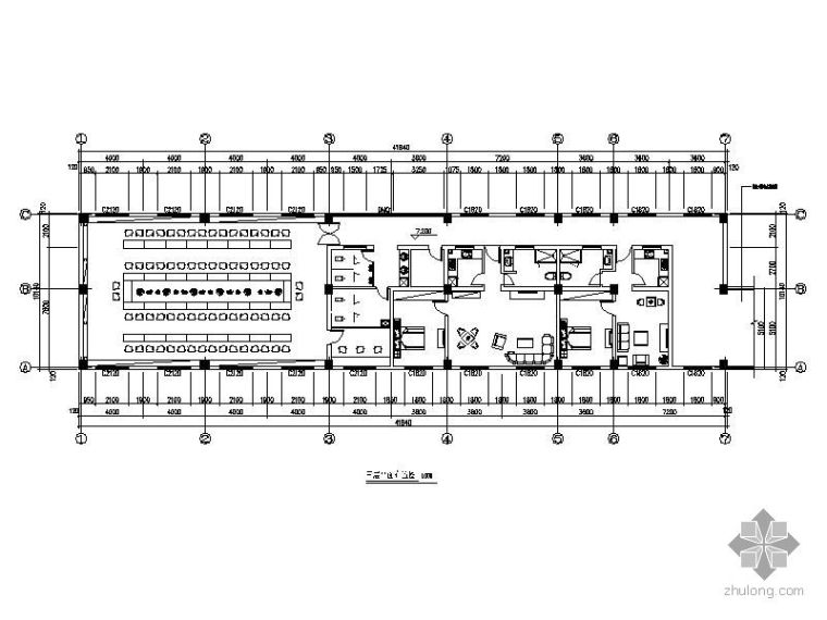 某综合楼精装空间平面图