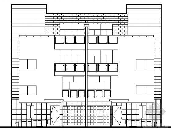 [福建]某双拼豪华五星级商务型别墅建筑扩初图