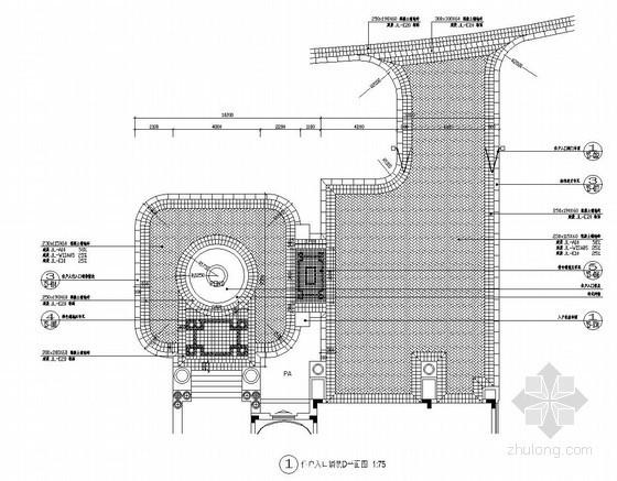 五种住户入口铺装施工详图