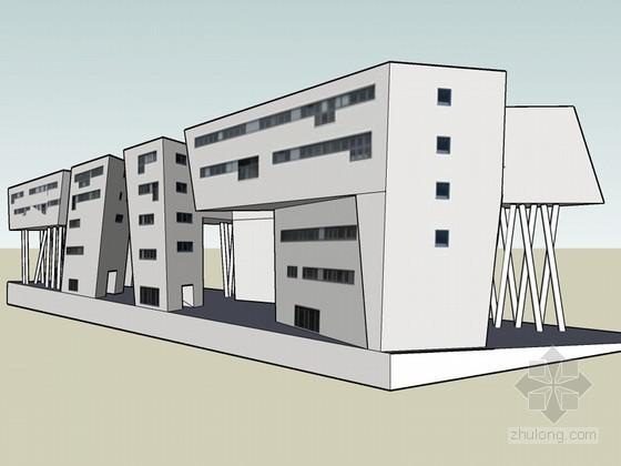 扎哈·哈迪德建筑SketchUp模型下载
