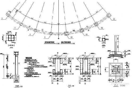 入口柱廊结构施工图