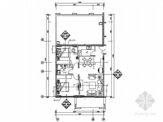 [北京]国际公寓现代二居室室内装修图