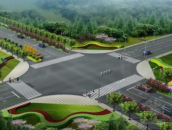 [浙江]2015年市政道路景观提升工程预算书(含施工图纸)