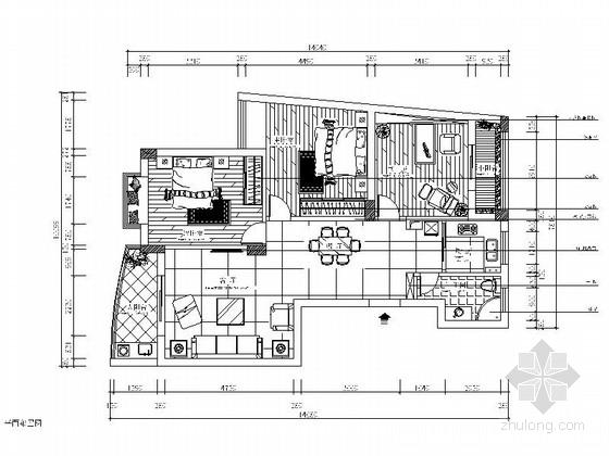 简洁现代风格两居室装修图(含效果图)