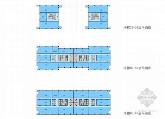 [西安]39层180米办公综合体建筑设计方案文本-39层180米办公综合体总平面图