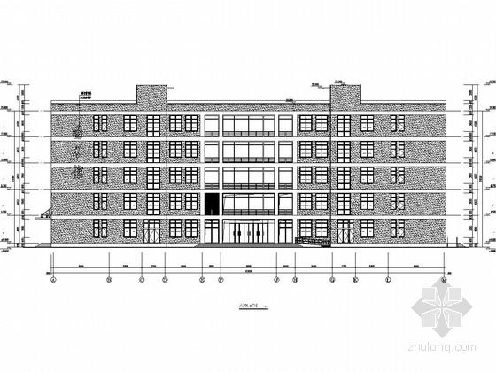 [山东]五层框剪结构大学图书馆结构施工图(含详细建筑图)