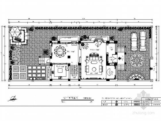 [云南]昆明欧式风格四层别墅装修CAD施工图(含效果图)