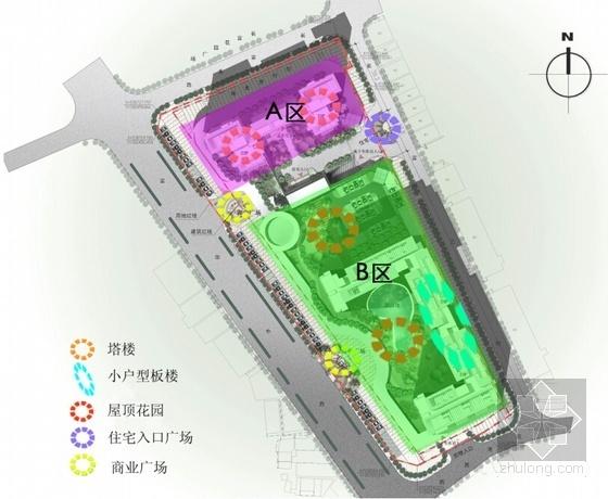 [广东]高层现代风格购物中心及住宅建筑设计方案文本-高层现代风格购物中心及住宅建筑分析图