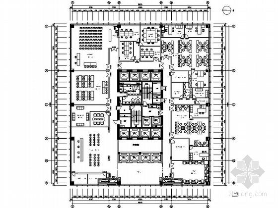 [杭州]新中式风格电网调度交易中心装修图(含效果)