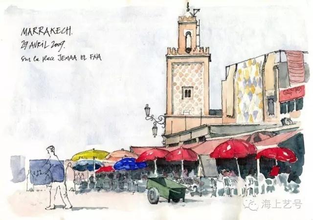 从国外建筑师手绘表现看色彩原理的应用_11