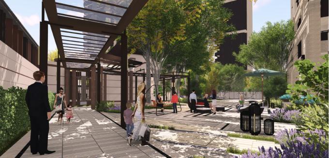 [江西]新中式东方盛唐帝景深宅庭院景观规划设计方案-小庭院景观效果图