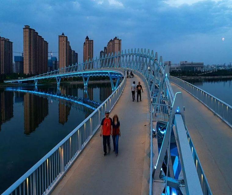 """太原""""汾河之冠""""人行景观桥,尽展结构技艺之美!_9"""
