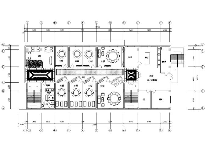 [上海]某大型中餐厅室内装修详细施工图