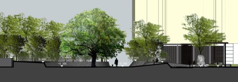 [江西]知名地产南昌青山湖名邸景观设计方案(PPT+218页)-剖面图