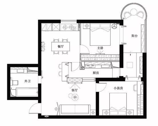 北欧风格90㎡房子装修|东巴象家装