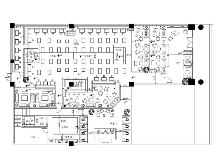 [成都]轻工业风格——miumiu酒吧装修施工图(附效果图)