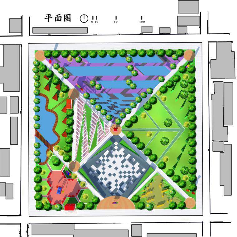 七巧板文化广场设计_3