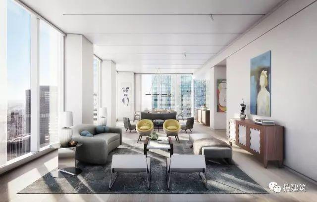 """万科在纽约开发的""""新地标住宅"""",高200米,1000-1600平方英尺的_20"""