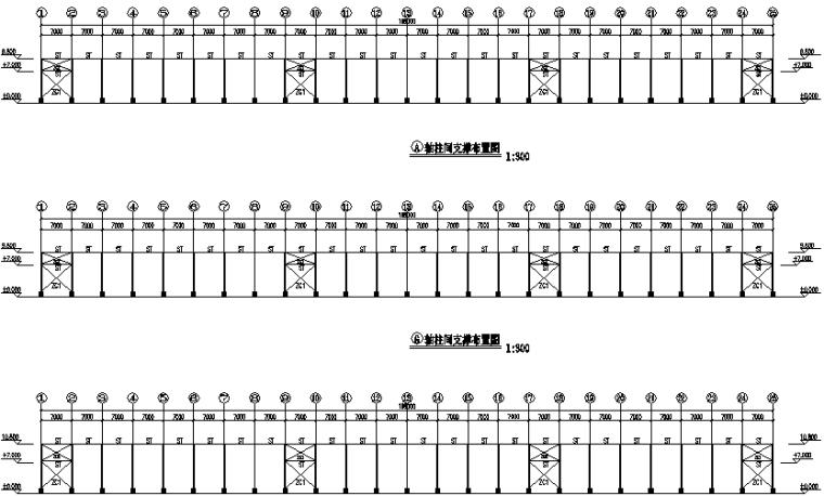 水头石溪股份公司单跨门式刚架结构工程施工图(CAD,16张)
