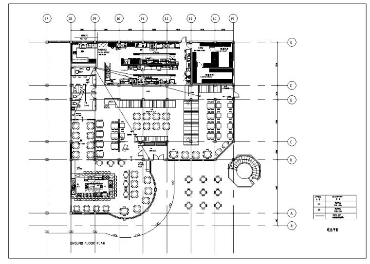 [上海]某知名餐厅弱电平面图_3