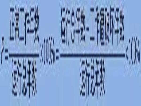 [水库兴利调节计算]设计保证率和设计代表期