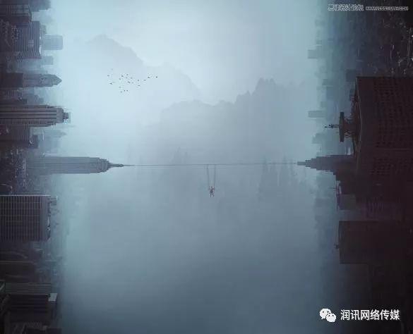 合成迷雾中创意城市景观图片的PS教程