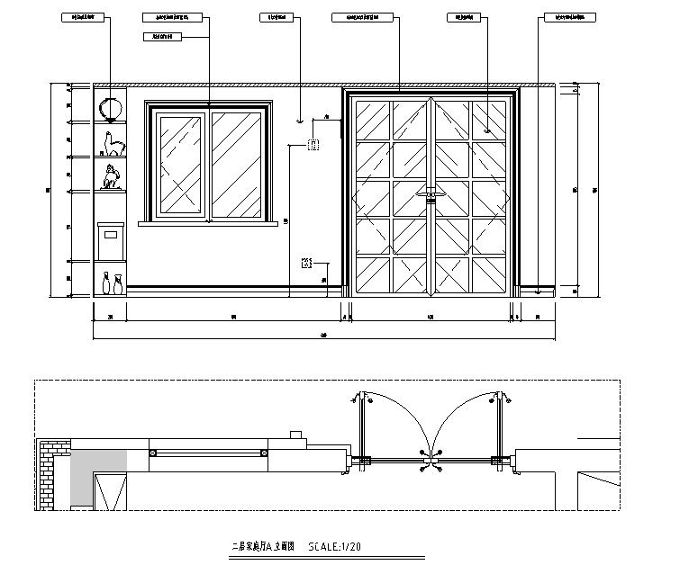 [辽宁]蓝白基调浪漫住宅空间设计施工图(附效果图)_3