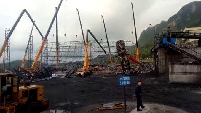 贵州某地多机抬吊钢网架,造成重大事故,原因众说纷纭