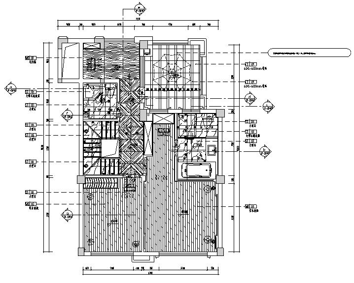 [福建]半岛别墅C户型设计施工图(附效果图+材料表)