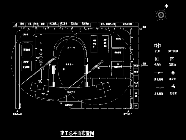 南部县商务演出影视会展中心施工组织设计(含平面布置图)