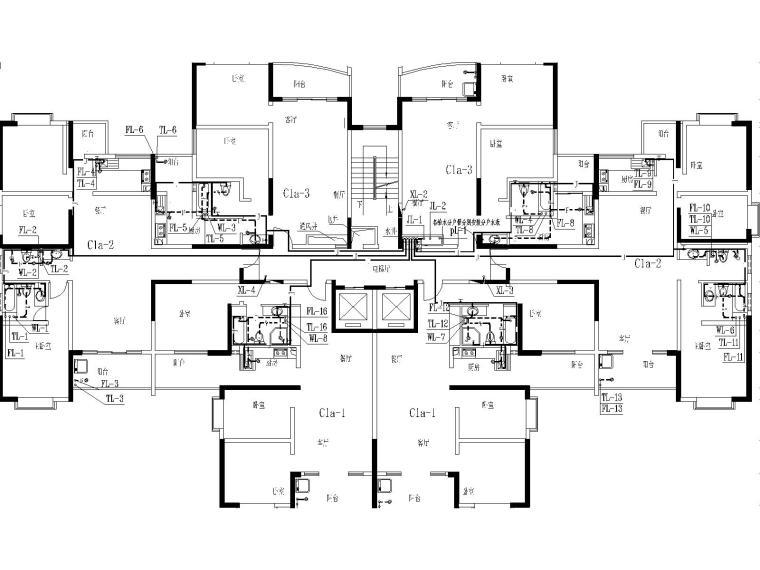17层建筑给排水毕业设计(包含生活给水系统、污水系统、废水系统)-j建筑给排水毕业设计图纸-Model6.jpg