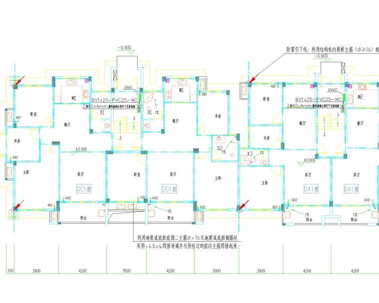 2016.11六层住宅电气设计(含等电位联结、访客对讲系统)