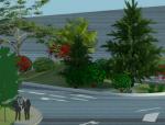城市绿岛效果图