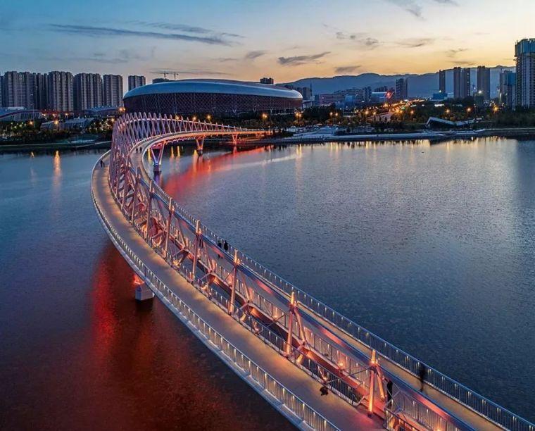 """太原""""汾河之冠""""人行景观桥,尽展结构技艺之美!_17"""