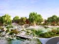 [北京]江南水乡新中式别墅庭院景观设计全套施工图(附景观效果图)