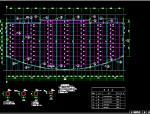 某一层中庭天桥及采光顶结构图