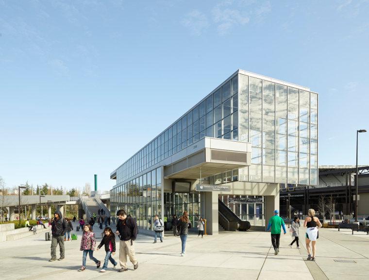 美国华盛顿大学轻轨站-4