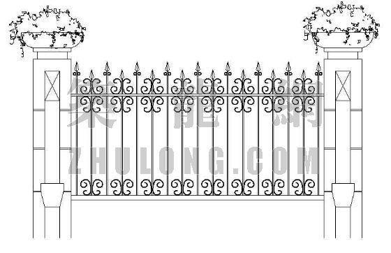 铁栅围墙-2